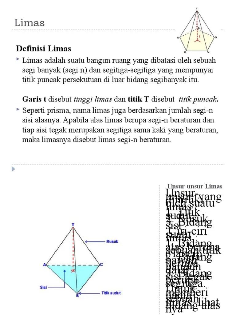 Unsur Unsur Prisma : unsur, prisma, Limas