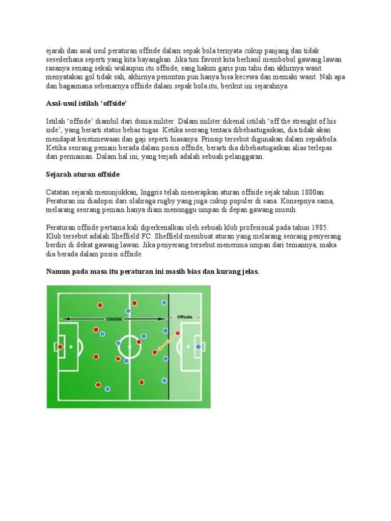 Posisi Offside : posisi, offside, Offside