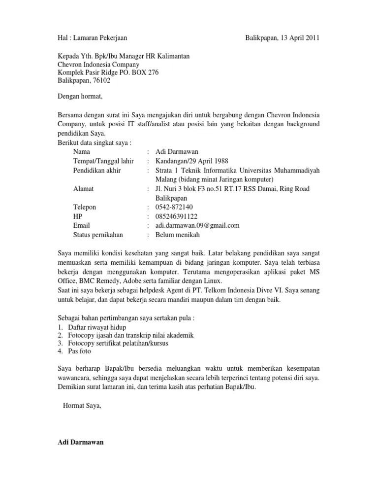 Surat Lamaran Tanpa Posisi : surat, lamaran, tanpa, posisi, Lamaran, Kerja, (Tanpa, Info)