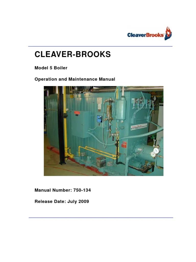 medium resolution of model 5 operating and maintenance manual boiler valve schematic wiring diagram connectors cleaver brooks wiring schematic diagrams