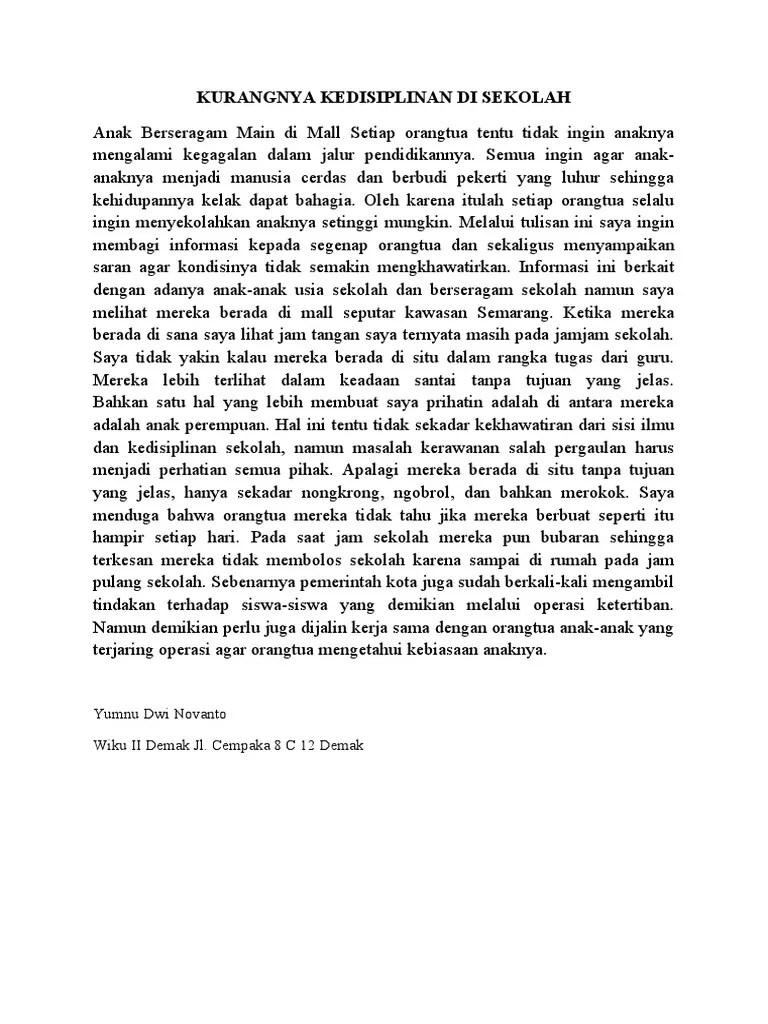 Contoh Surat Pembaca : contoh, surat, pembaca, Contoh, Surat, Pembaca, Tntang, Sekolah