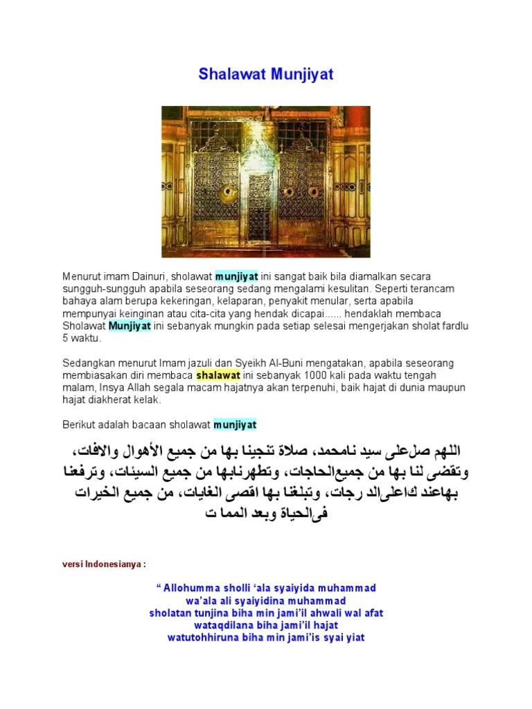 Membaca Sholawat 1000 Kali : membaca, sholawat, Shalawat, Munjiyat