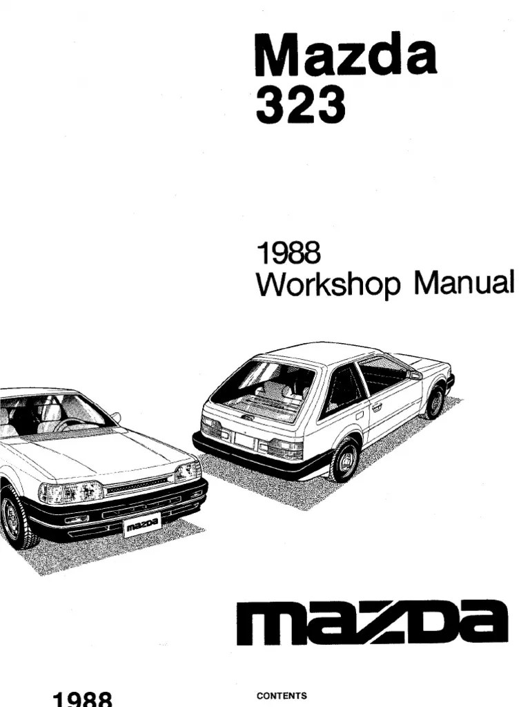 Plete 1988 mazda 323 workshop manual belt mechanical distributor