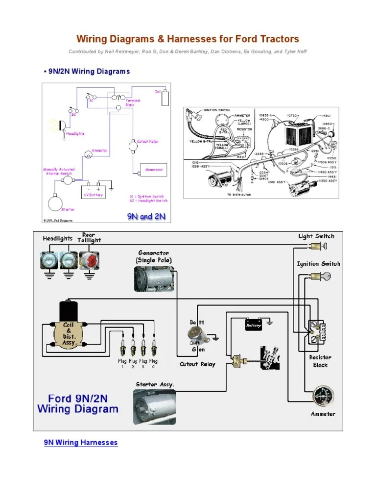 small resolution of wiring diagrams for ford tractors2 pdf library 9n 2n wiring diagram 20