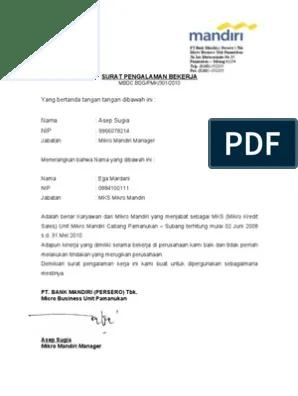 Surat Paklaring Kerja : surat, paklaring, kerja, SURAT, PENGALAMAN, BEKERJA