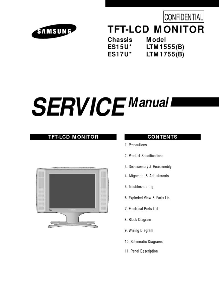small resolution of samsung lcd service manual internal es15u electrostatic discharge electrical connector