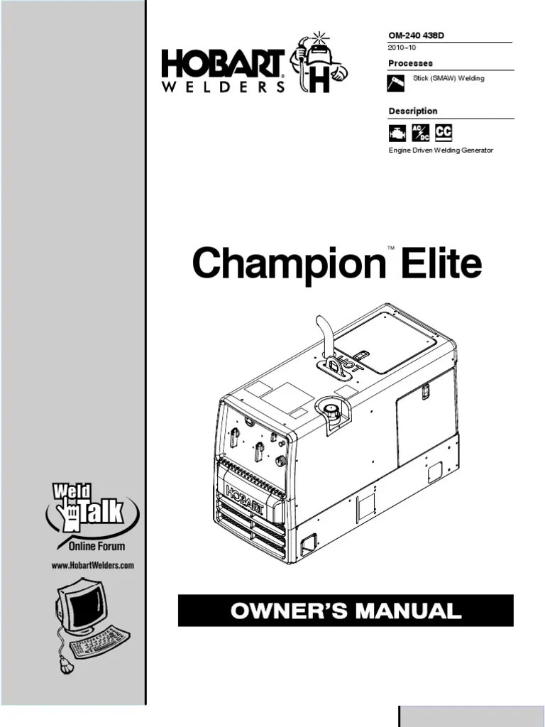 small resolution of champion elite owner s manual battery charger welding hobart champion elite wiring diagram