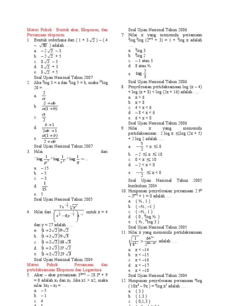 Contoh Soal Eksponen Kelas 10 Dan Pembahasannya : contoh, eksponen, kelas, pembahasannya, Contoh, Eksponen, Pembahasannya, Kelas, Kumpulan, Pelajaran