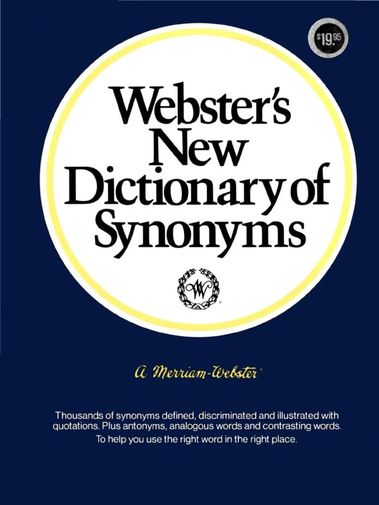 Another Word For Presume Webster's New Dictionary Of Synonyms 1984