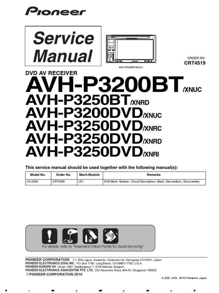 medium resolution of pioneer avh p3200dvd wiring diagram