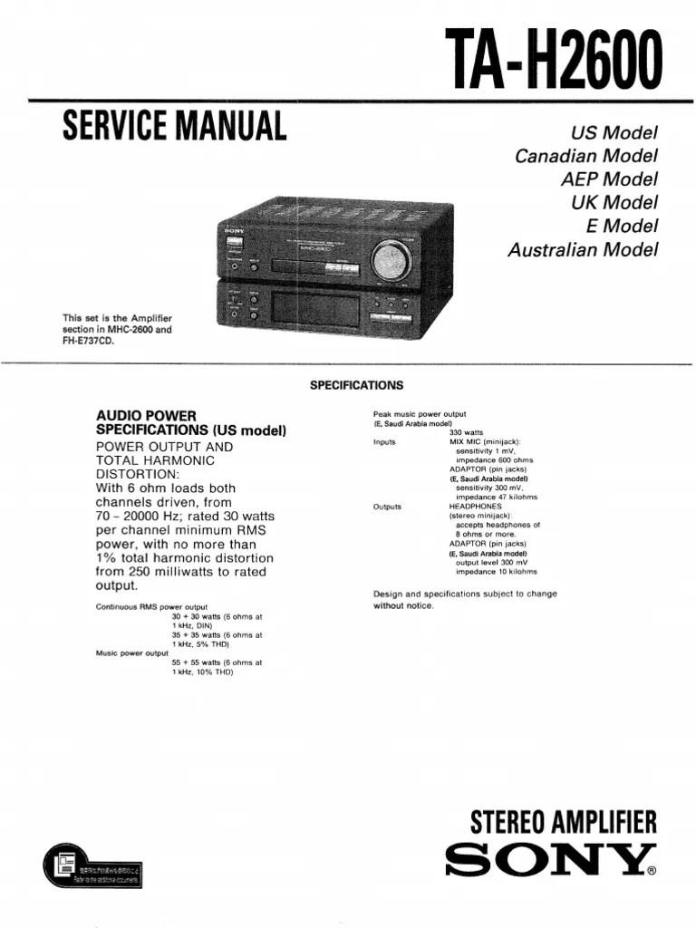 Sony TA H 2600