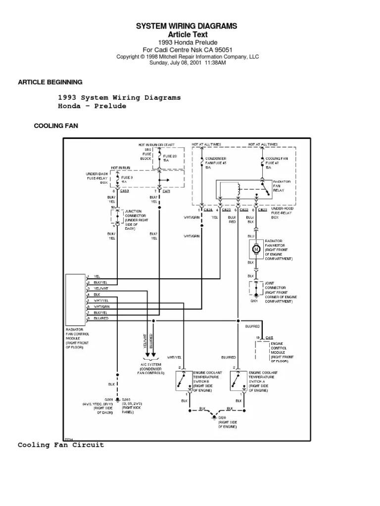 honda prelude iv 92 96 system wiring diagrams wiring diagram for honda prelude 1999 wires diagrams honda prelude [ 768 x 1024 Pixel ]