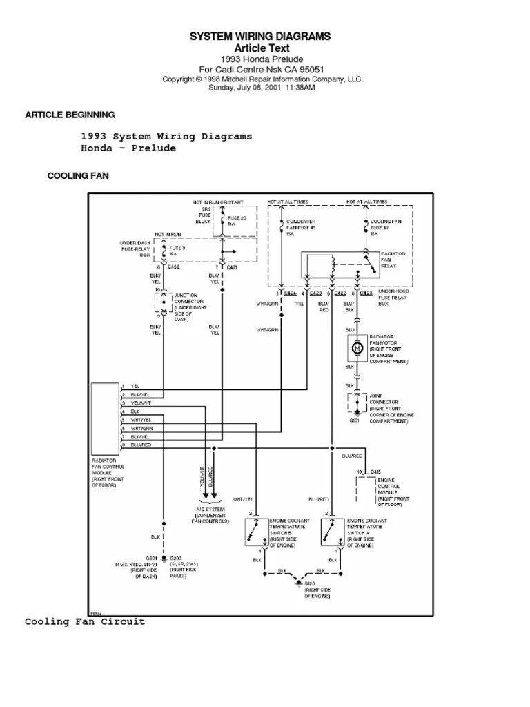 medium resolution of honda prelude iv 92 96 system wiring diagrams wiring diagram for honda prelude 1999 wires diagrams honda prelude