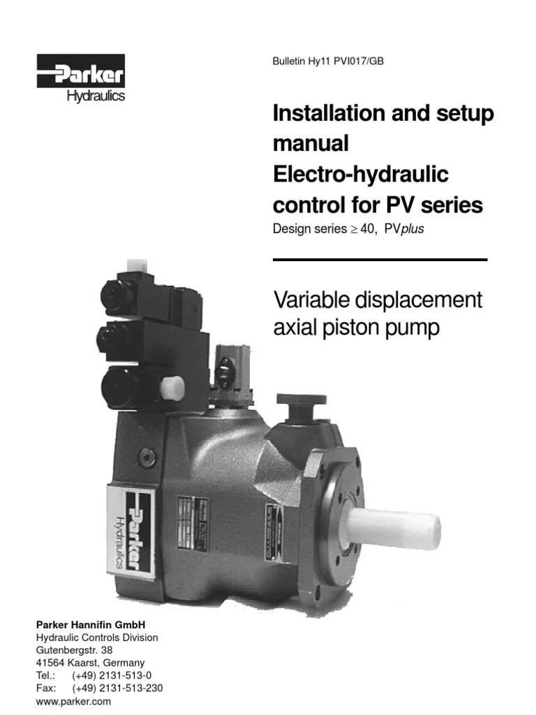small resolution of parker hydraulic pump wiring diagram