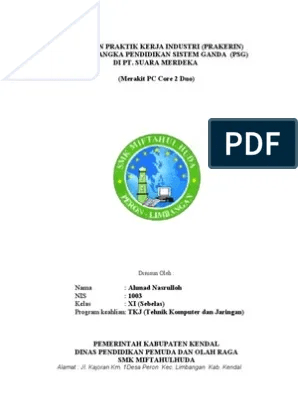 Contoh Laporan Pkl Tkj Pdf : contoh, laporan, Laporan, Prakerin