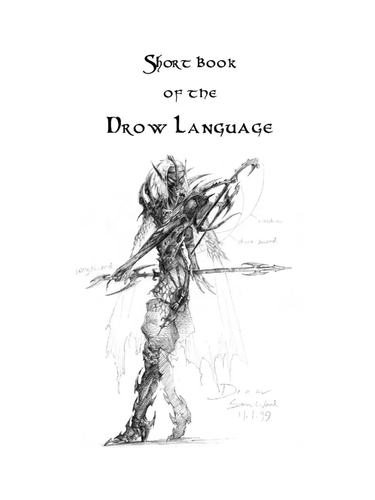 Short Book of the Drow Language