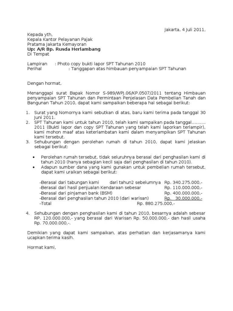 Contoh Surat Balasan Klarifikasi Pajak : contoh, surat, balasan, klarifikasi, pajak, Surat, Tanggapan, Pajak, P'Iwan