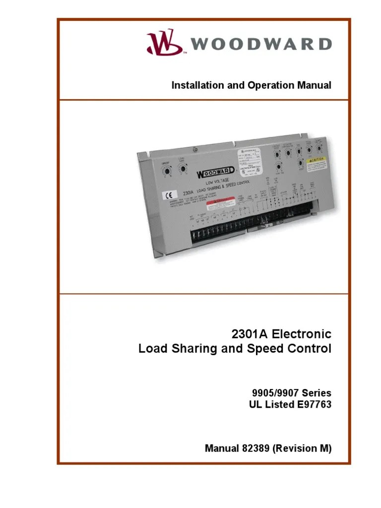 Woodward 2301a 9905 9907 Series Technical Manual  Cable