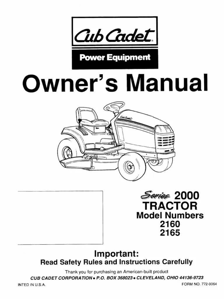 Cub Cadet Wiring Diagram 2160 Auto Electrical 29 Images