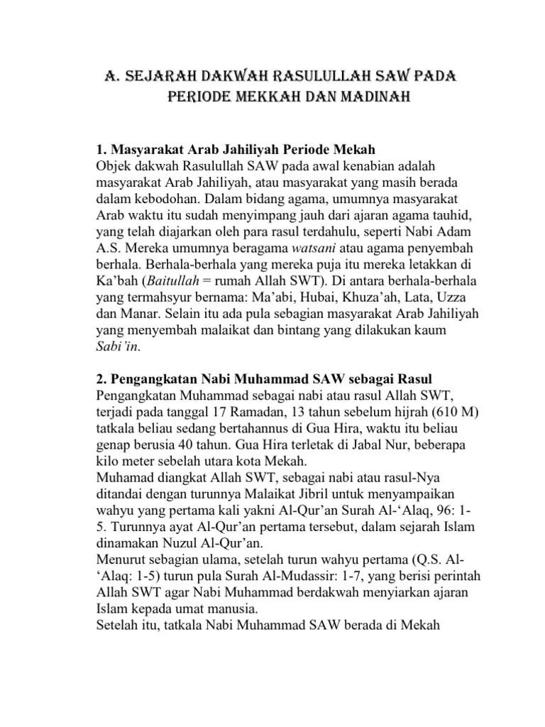 Sejarah Perjuangan Nabi Muhammad Saw Periode Madinah : sejarah, perjuangan, muhammad, periode, madinah, Periode, Dakwah, Mekah, Selama