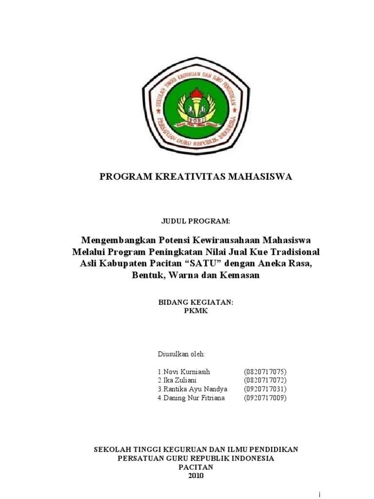 Contoh Proposal Kewirausahaan Mahasiswa : contoh, proposal, kewirausahaan, mahasiswa, Contoh, Proposal, Kreativitas, Mahasiswa, Bidang, Kewirausahaan