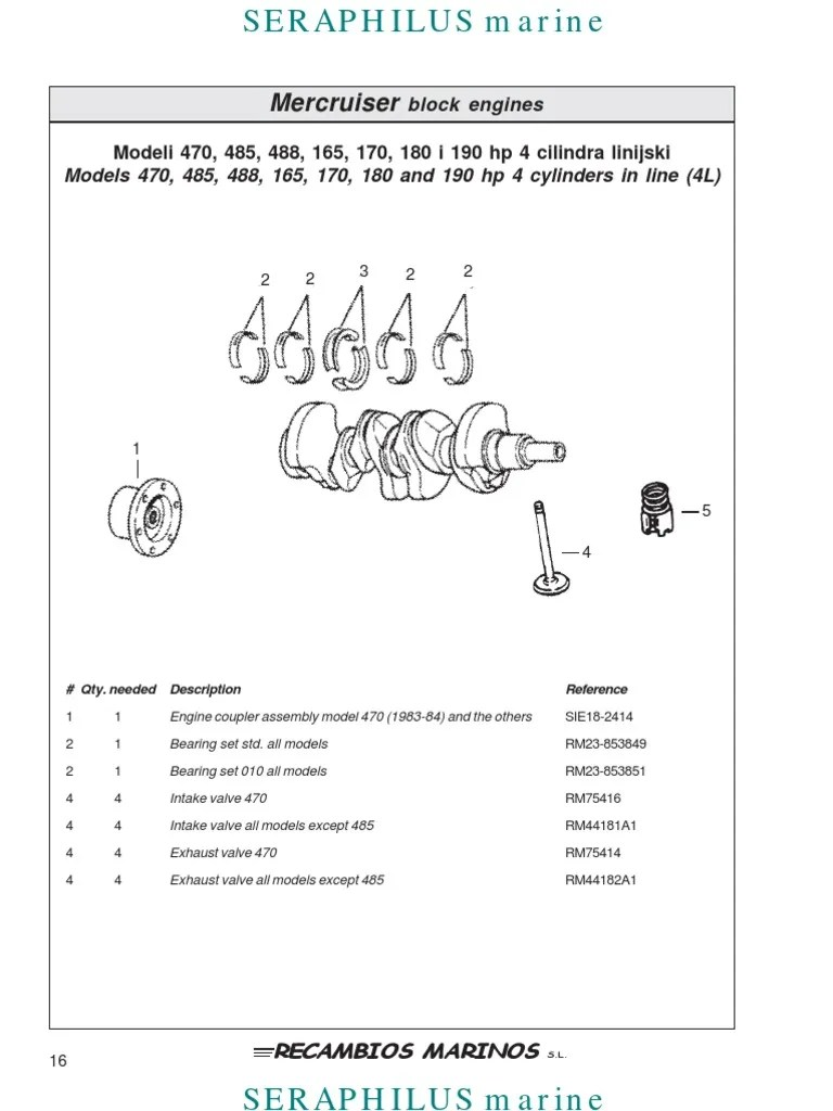 medium resolution of 165 hp mercruiser engine diagram
