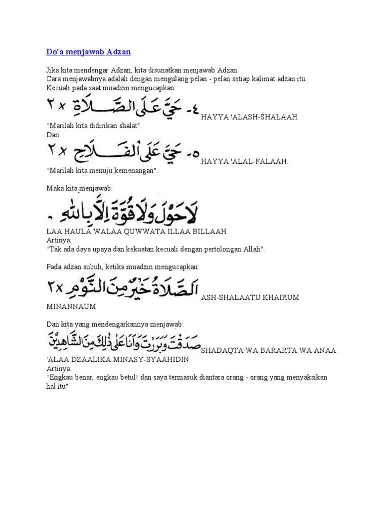 Jawaban Asholatu Khairum Minannaum : jawaban, asholatu, khairum, minannaum, Jawaban, Adzan, Subuh
