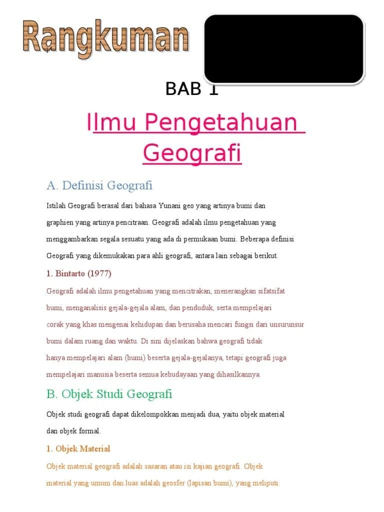 Objek Formal Geografi : objek, formal, geografi, Perbedaan, Objek, Formal, Material, Geografi, Berbagai