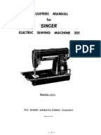 Singer 1950s Sewing Machine Manual Class 99/99K