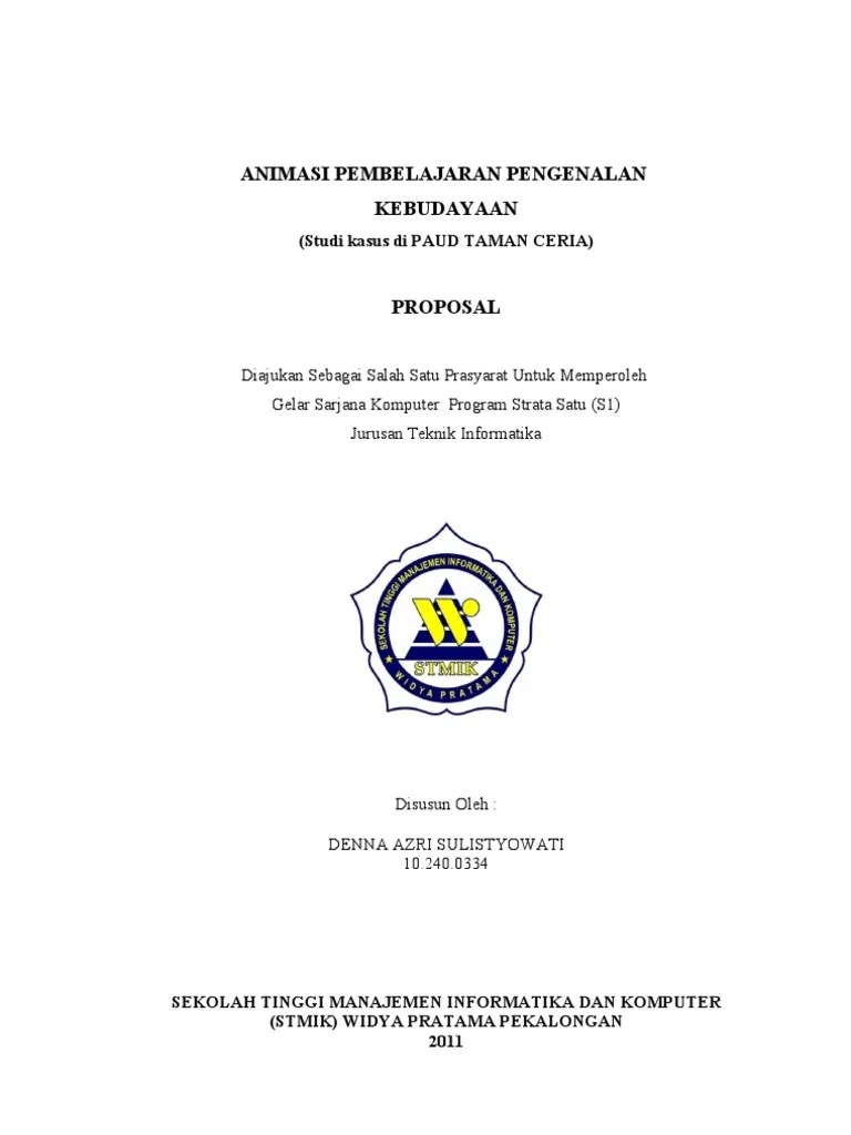 Contoh Judul Proposal Penelitian Kualitatif Pendidikan Anak Usia Dini Gontoh Cute766