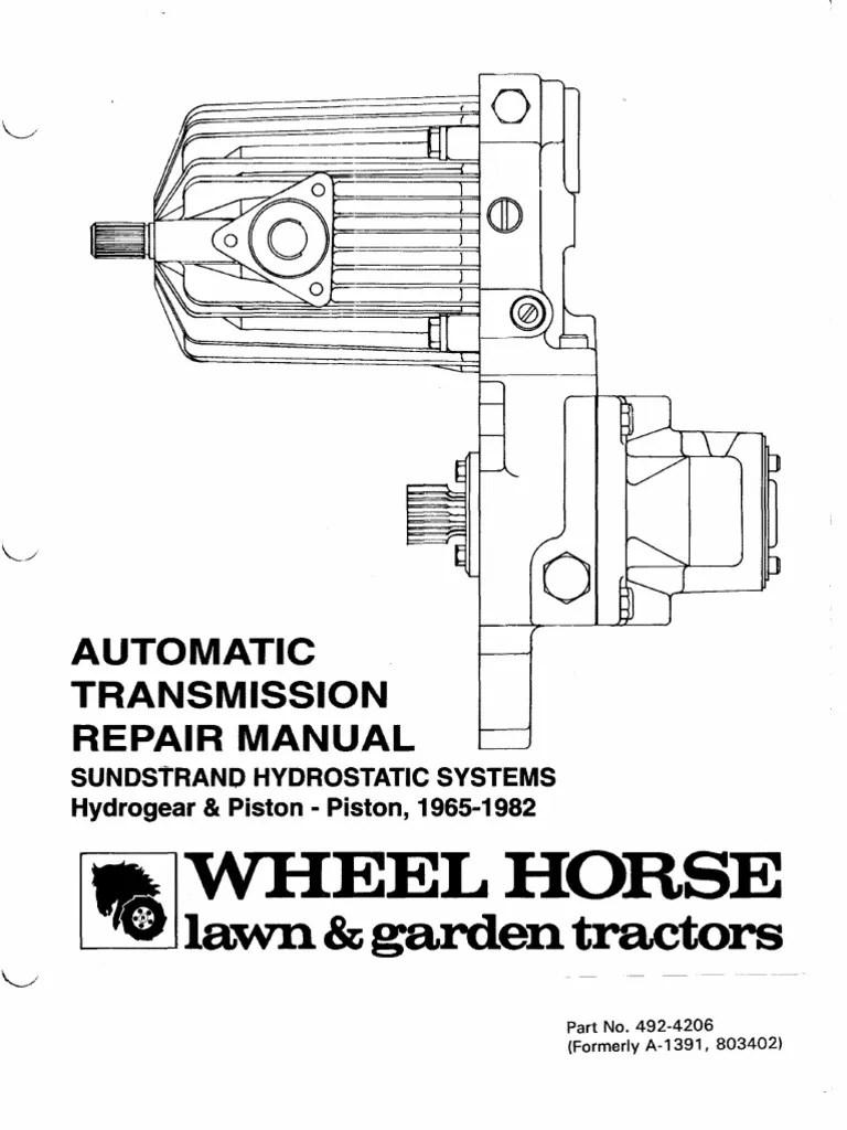 medium resolution of sunstrand hydro service manual automatic transmission transmission mechanics