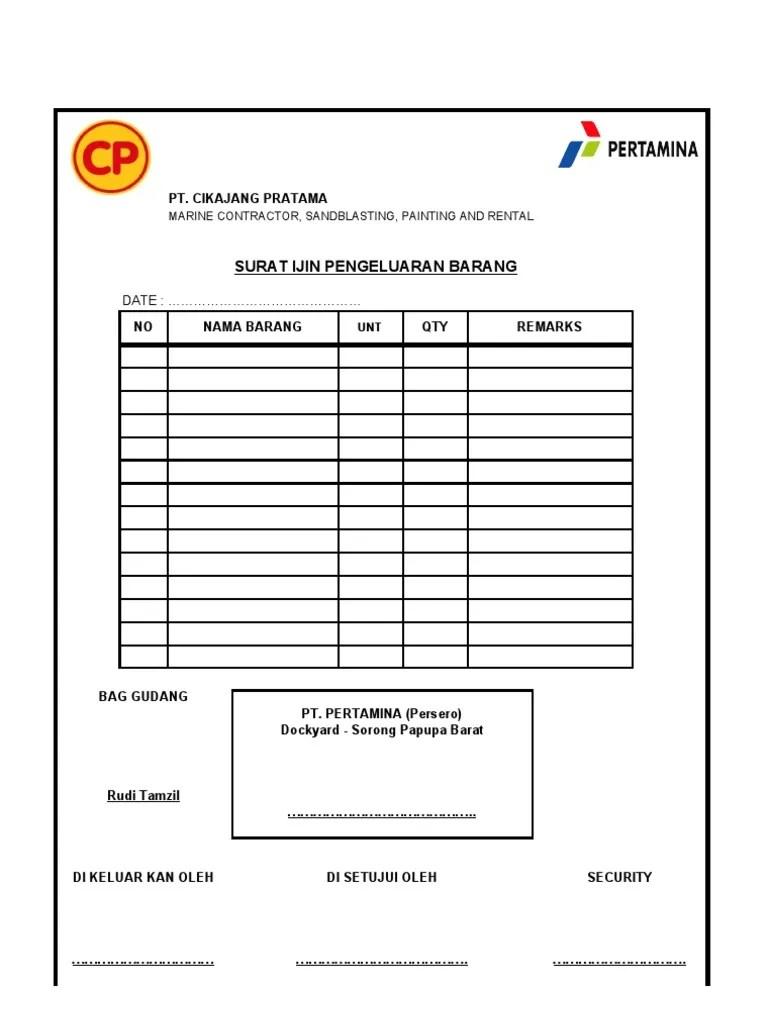 Contoh Surat Jalan Pengeluaran Barang : contoh, surat, jalan, pengeluaran, barang, Surat, Pengeluaran, Barang