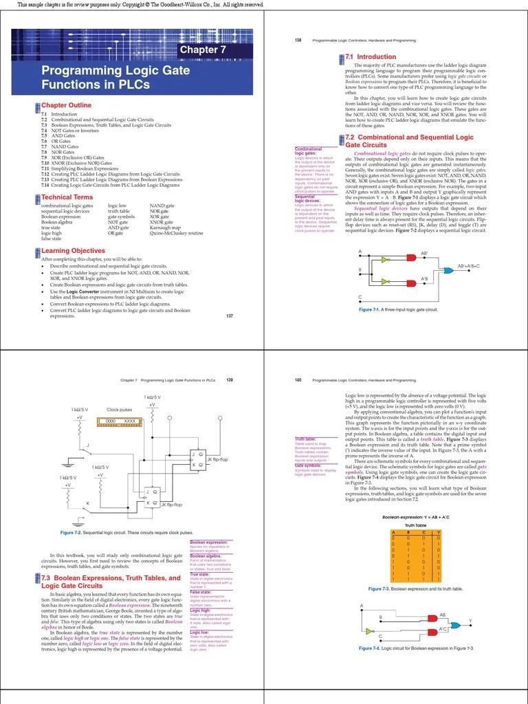 hight resolution of logic gates programming in plc programmable logic controller logic gate