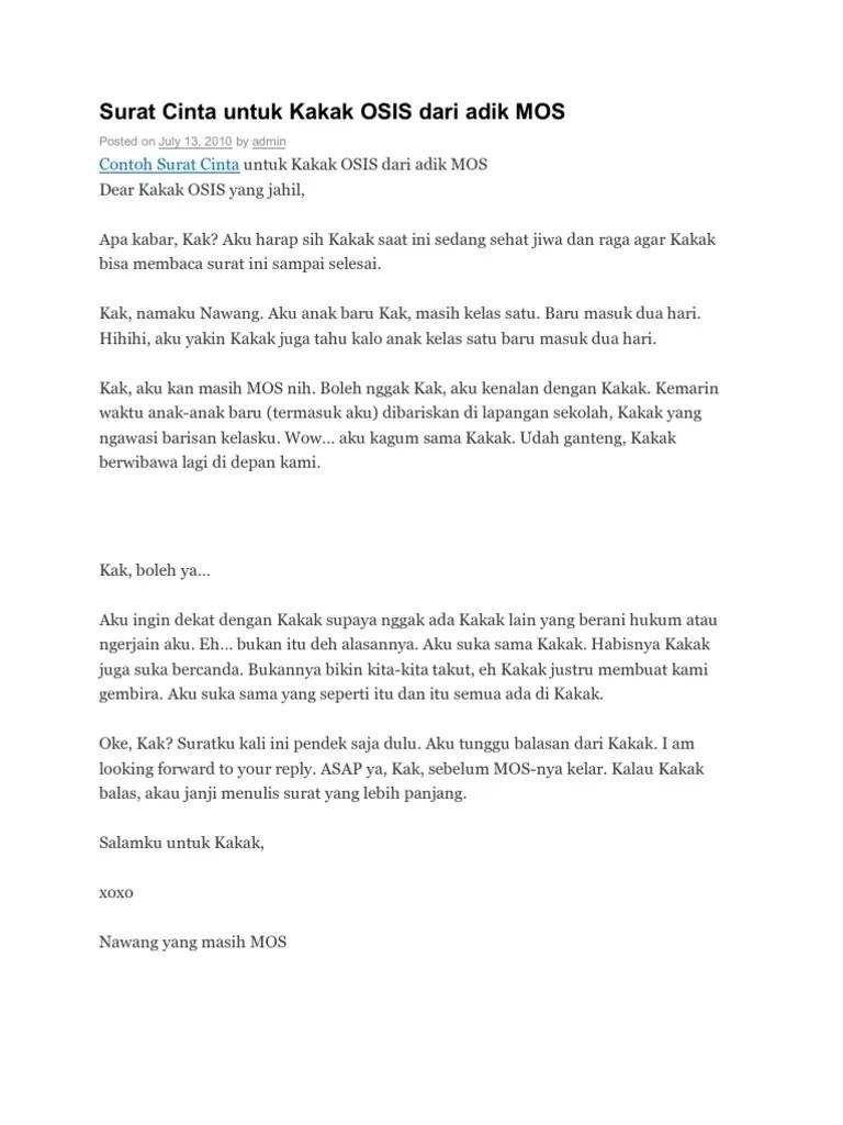 Surat Cinta Singkat Untuk Kakak Kelas : surat, cinta, singkat, untuk, kakak, kelas, Contoh, Surat, Cinta, Singkat, Untuk, Kakak, Carta, Cute766