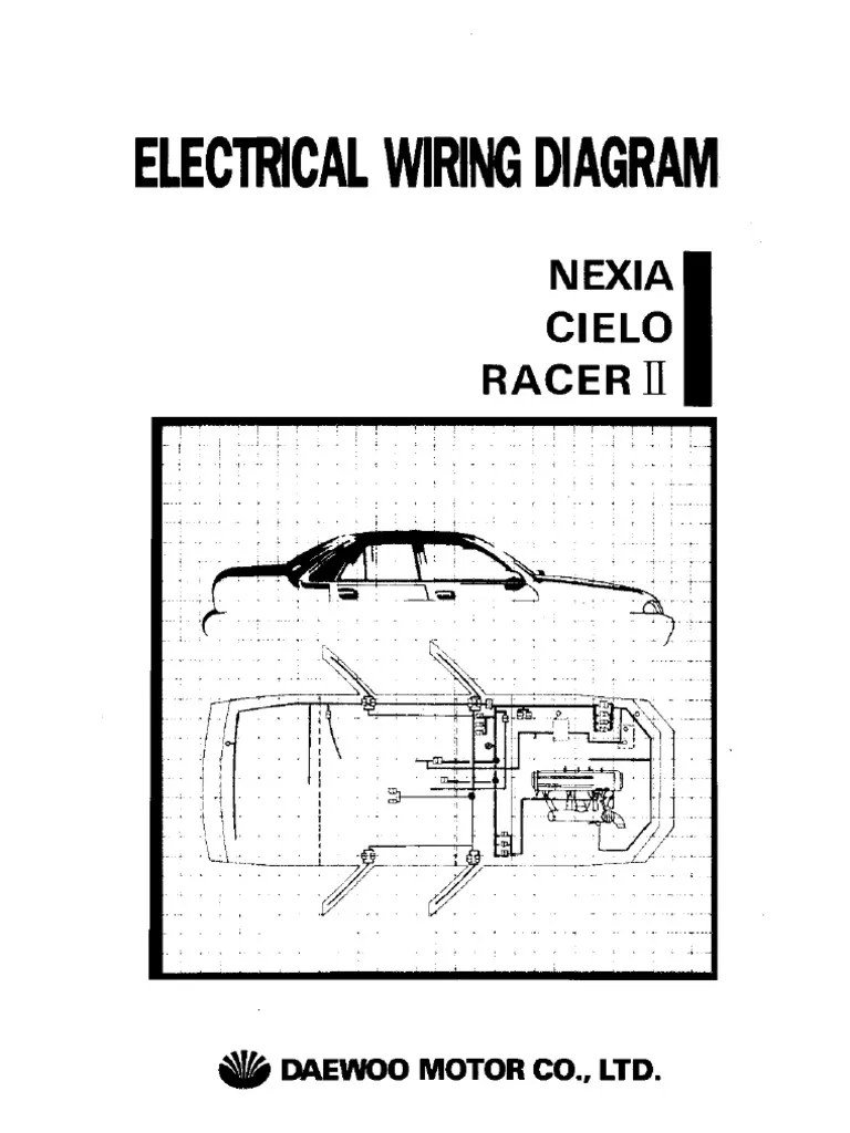 electrical wiring diagram daewoo racer