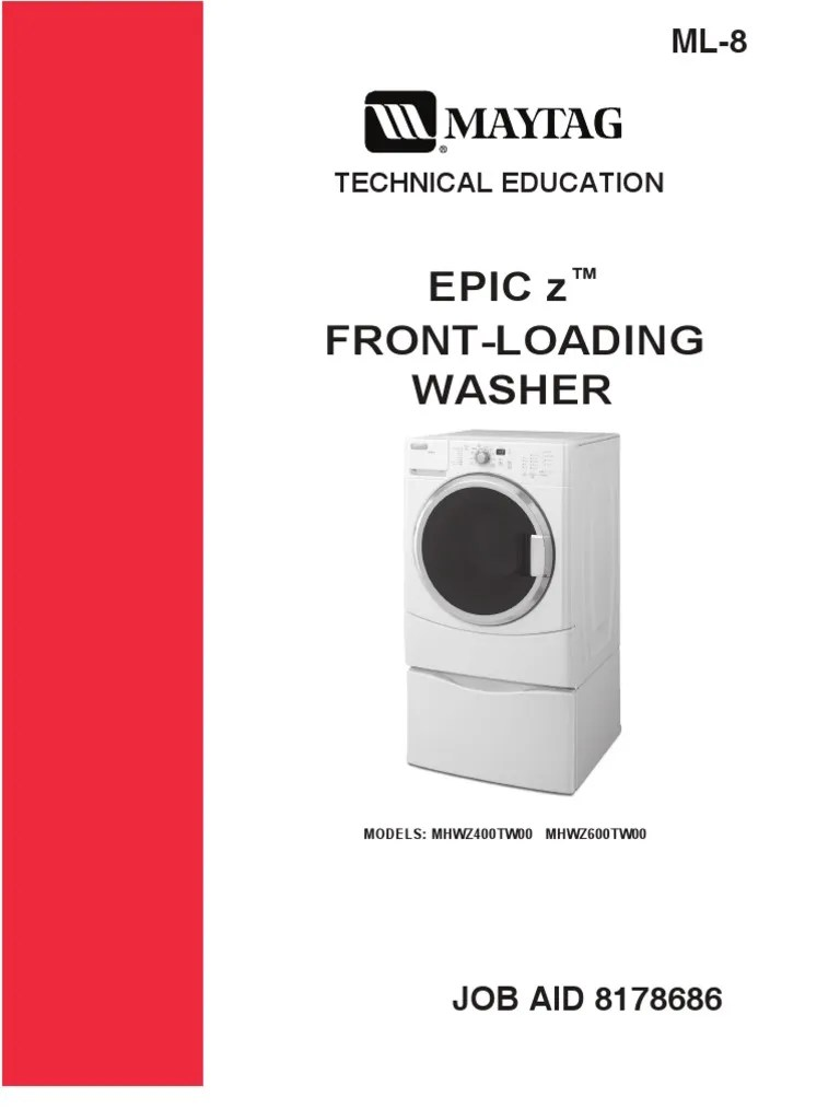 medium resolution of 8178686 maytag epic z front loading washer technical education washing machine ac power plugs and sockets