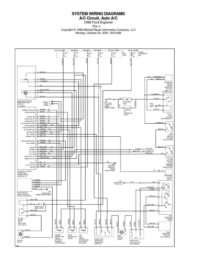 medium resolution of 1996 ford explorer wiring schematic wiring diagram1996 ford explorer wiring schematic