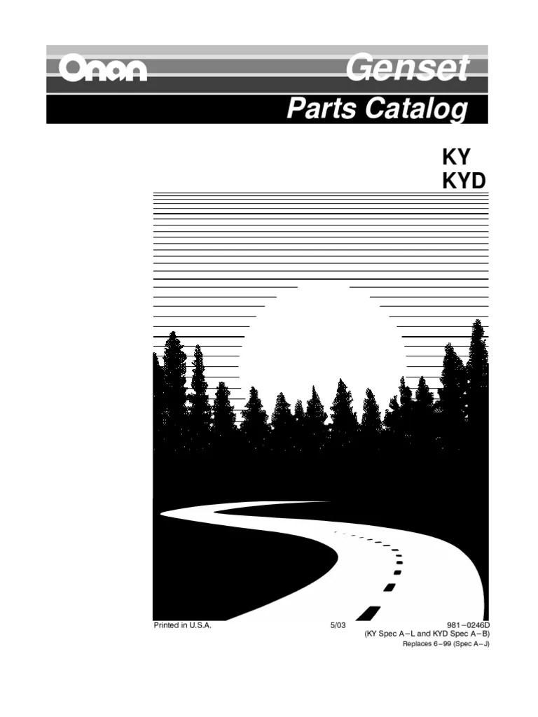medium resolution of ky parts manual carburetor screwky onan parts diagram 3