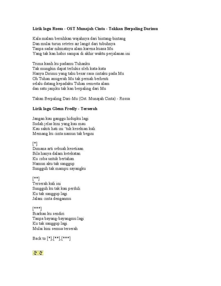 Cinta Tak Mungkin Berhenti Lirik : cinta, mungkin, berhenti, lirik, Lirik, Cinta, Mungkin, Berhenti, Arsia