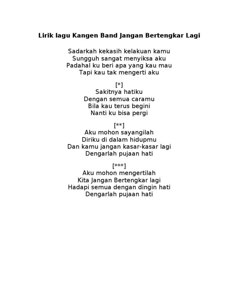 Kangen Band Jangan Bertengkar Lagi Cover By Virli (Lirik
