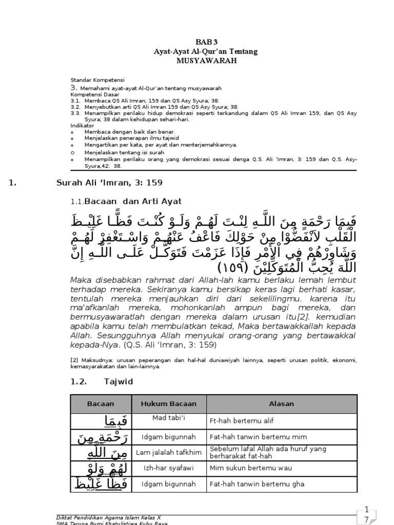 Qs Asy Syura Ayat 38 : syura, Ayat-Ayat, Al-Quran, Tentang, Demokrasi