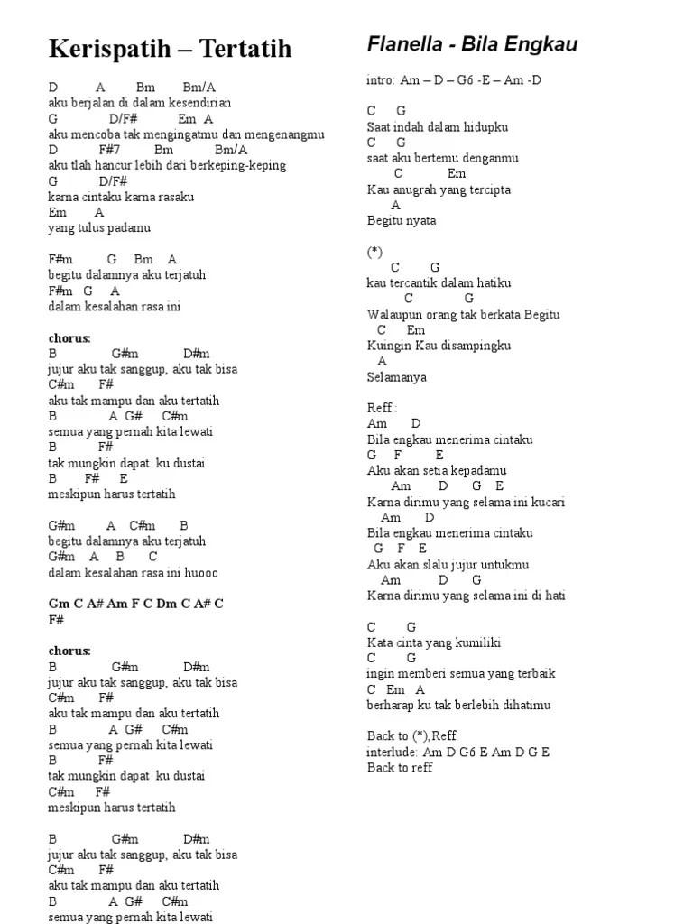 Chord Aku Bisa Flanella : chord, flanella, Flanella, Engkau, Chord, Walls