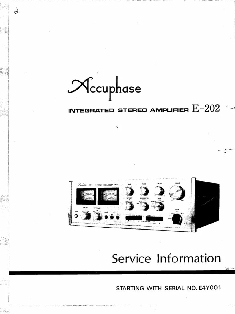Accuphase E-202 Service Manual