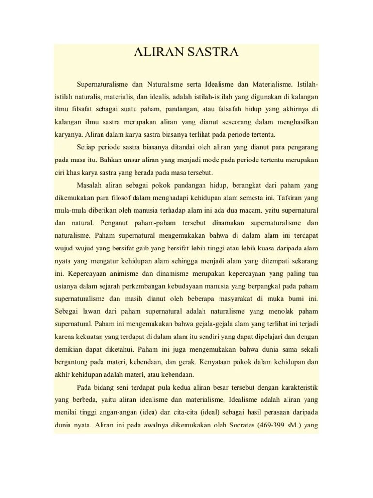 Aliran Aliran Sastra : aliran, sastra, Aliran, Sastra