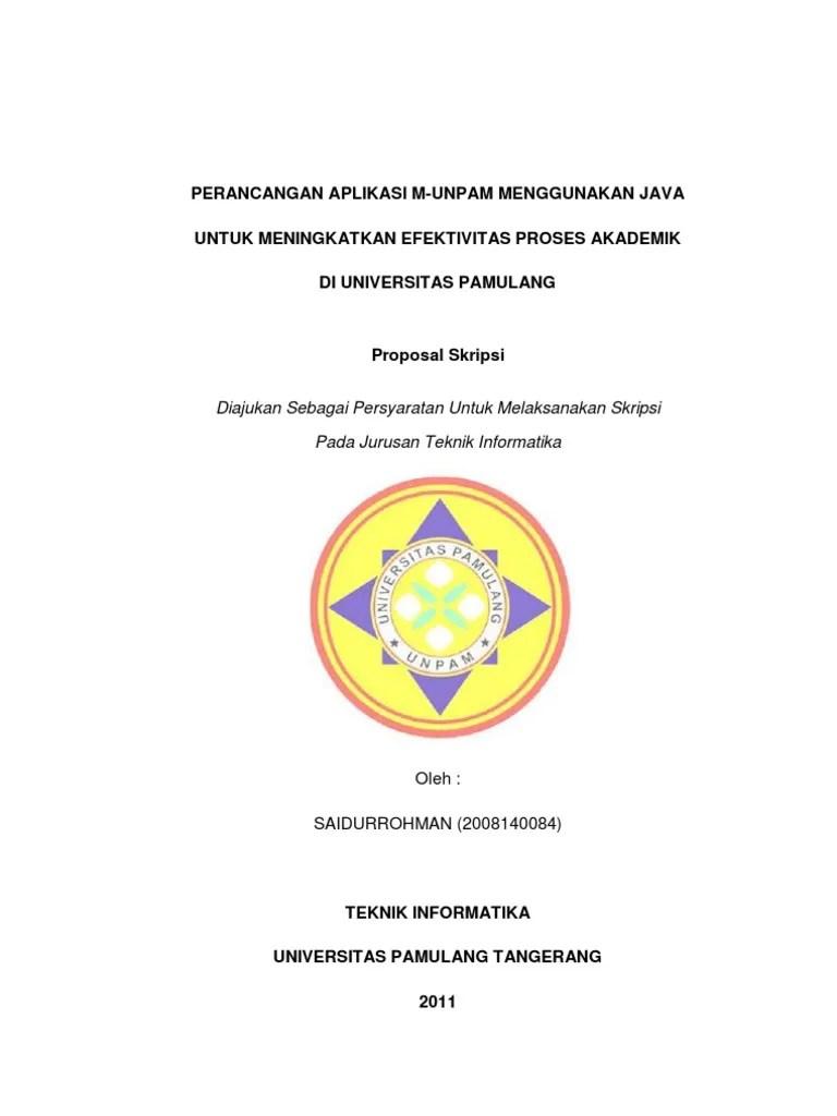 Contoh Proposal Judul Skripsi Teknik Informatika Kumpulan Berbagai Skripsi Cute766