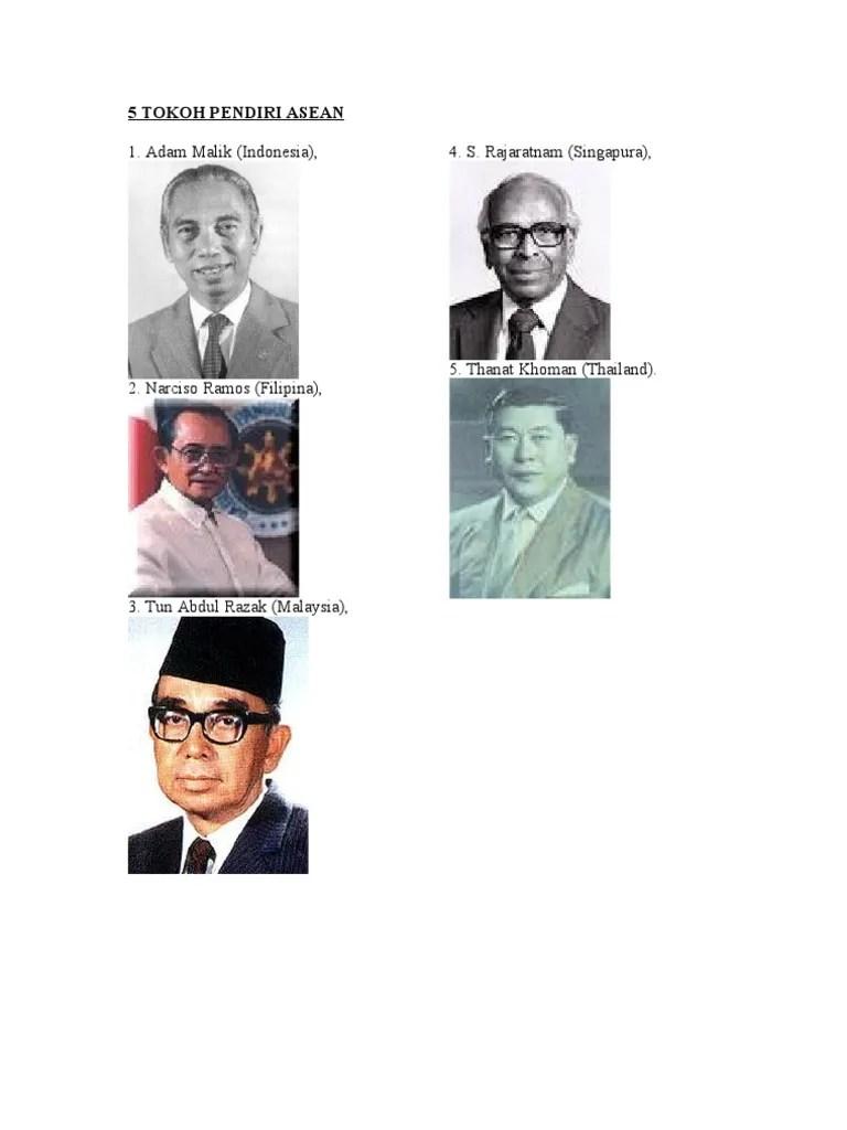 Gambar Tokoh Pendiri Asean : gambar, tokoh, pendiri, asean, TOKOH, PENDIRI, ASEAN