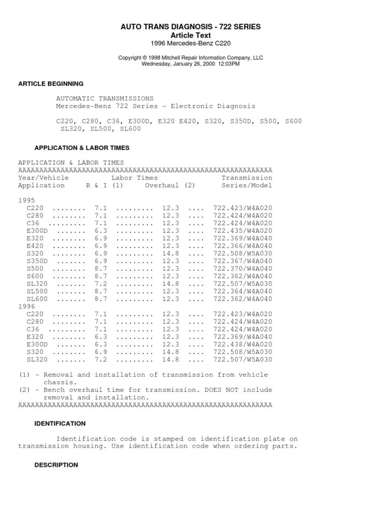 Auto trans diagnosis series mb  automatic transmission manual also rh scribd