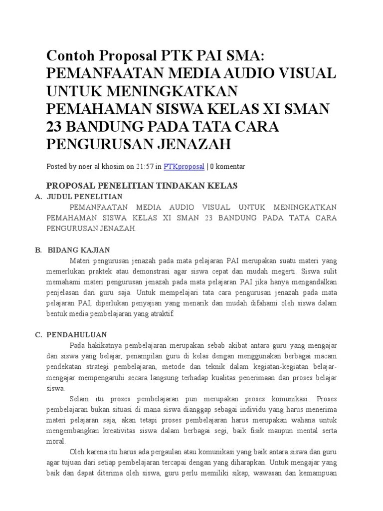 Download Ptk Pai Sd Lengkap : download, lengkap, Contoh, Proposal