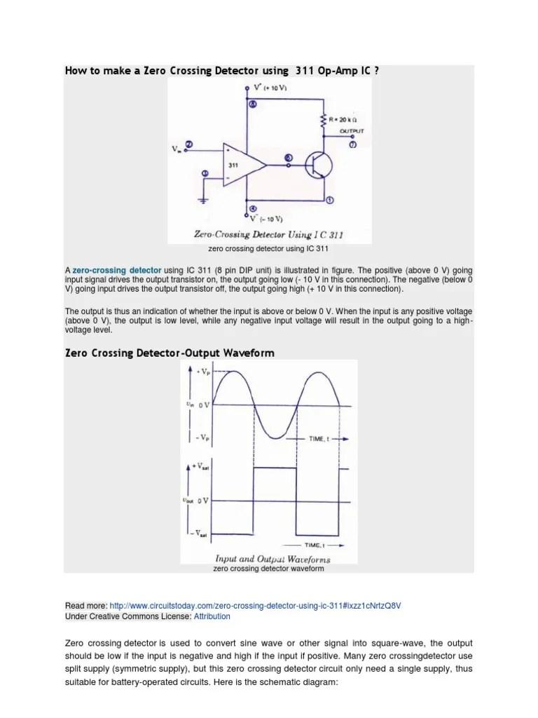 circuit diagram of zero crossing detector [ 768 x 1024 Pixel ]