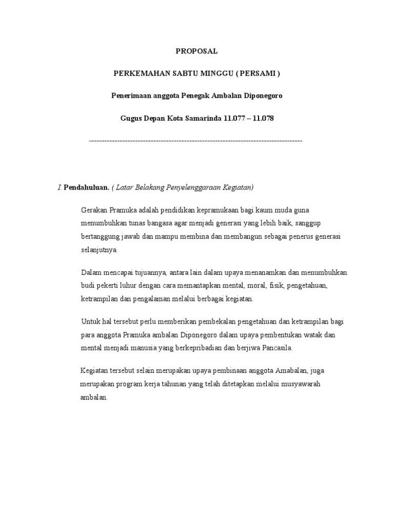 Contoh Penutup Proposal Kegiatan Persami : contoh, penutup, proposal, kegiatan, persami, PROPOSAL, Kegiatan, Persami